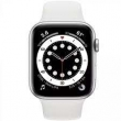 Watch Series 6 GPS 44mm Silver Aluminum Band White (M00D3)
