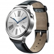 Watch Genuine Leather Strap Silver